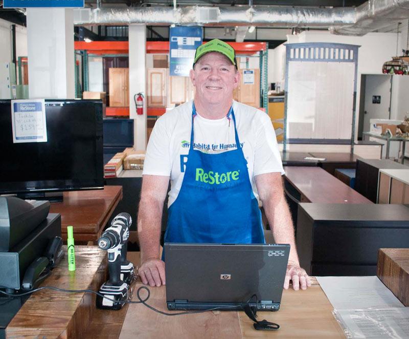 ReStore volunteer cashier